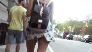 Following a short dress cutie through the city--_short_preview.mp4