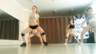 Four girls practice their twerking routine--_short_preview.mp4