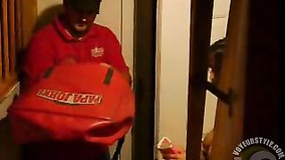 Pizza guy delivers a pie to naked brunette girl--_short_preview.mp4