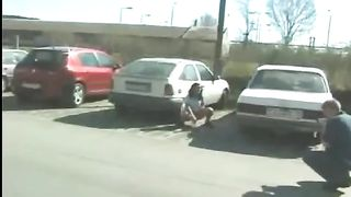 Desperate Hungarian honey pees in public parking lot--_short_preview.mp4