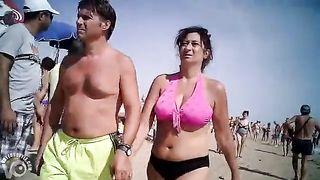 Big mature breasts in a pink bikini--_short_preview.mp4