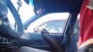 Flashing big black cock to a lady in a car--_short_preview.mp4
