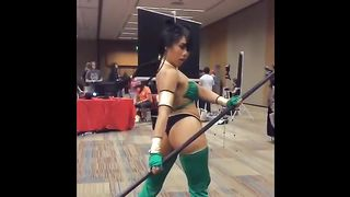 Asian cosplay babe has a hot ass in skimpy panties--_short_preview.mp4