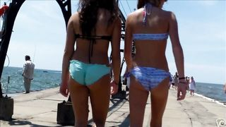 British coed girls on a vacation wear tight bikinis to the beach--_short_preview.mp4