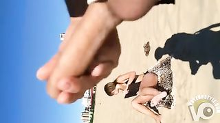 Stroking penis to a bikini woman on the beach--_short_preview.mp4