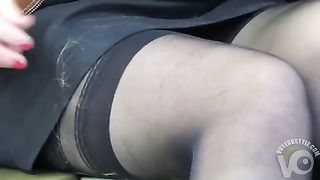 Stocking tops and upskirt on the train--_short_preview.mp4