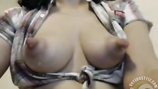 Lovely camgirl flashes her long nipples--_short_preview.mp4