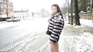 High heels and a miniskirt accentuate the sexy legs of a street hooker--_short_preview.mp4