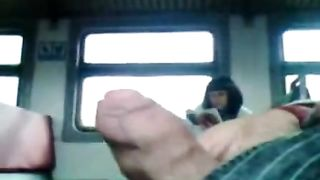 Jacking off uncut cock on the public train--_short_preview.mp4