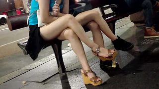 Two hot bunnies expose their long tasty legs in public--_short_preview.mp4