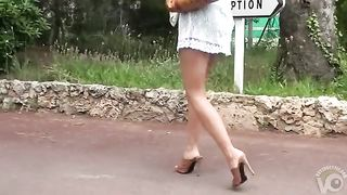 Leggy babe in heels and a dress filmed walking--_short_preview.mp4