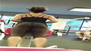 Fit beauty with an incredible ass in brown spandex--_short_preview.mp4