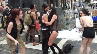 Inked topless babe offers herself for public whipping--_short_preview.mp4