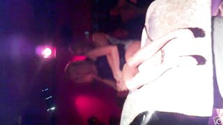 Smoking hot lasses hold each other while riding an electrical bull--_short_preview.mp4