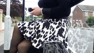 Smoking hot lady in a leopard skirt has her undies revealed--_short_preview.mp4