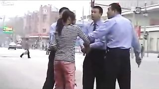 Asian girl peed her pants on a public street--_short_preview.mp4