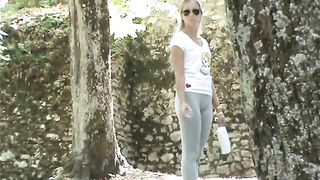 Spandex leggings on a girl in the public park--_short_preview.mp4