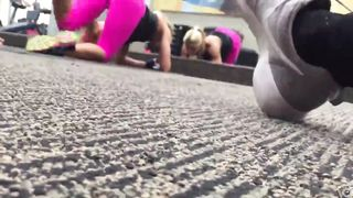 Fine ass blonde trainer in hot pink pants at the gym--_short_preview.mp4
