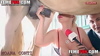 Glamour mature sucks a horse in front of a camera and plays with the giant cock--_short_preview.mp4