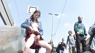 Czech model pissing at public train station--_short_preview.mp4