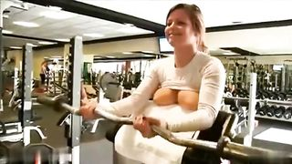 My fitness trainer whips her tits out and works out in the gym--_short_preview.mp4
