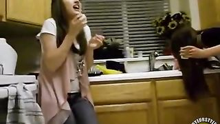Cute girls try the cinnamon challenge--_short_preview.mp4