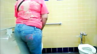 BBW pees in a public restroom--_short_preview.mp4