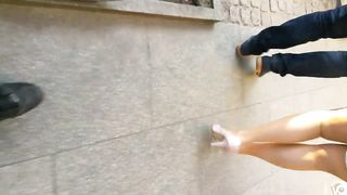 Attractive blonde lady jiggles her butt as she walks--_short_preview.mp4