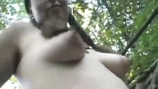Hippie girl shows off hairy cunt in the woods--_short_preview.mp4
