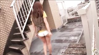 Japanese hooker urinates through her white knickers outdoors--_short_preview.mp4