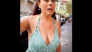 Busty cougar has her huge cleavage recorded by a phone--_short_preview.mp4