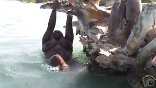 Chubby ebony hooker in the ocean--_short_preview.mp4