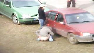 Cutie squats and pisses behind a car--_short_preview.mp4