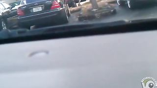 Bootylicious woman filmed on the parking lot--_short_preview.mp4