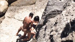 Filly's pussy gets penetrated on the rocky beach--_short_preview.mp4