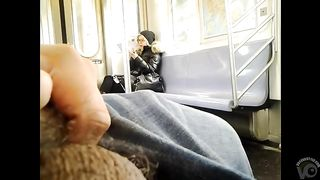 Stroking cock to the hot blonde on the subway--_short_preview.mp4