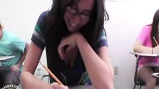 Cleavage and pussy in class with a college girl--_short_preview.mp4