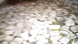 Girl filmed in secret by horny voyeur when pissing on the street--_short_preview.mp4