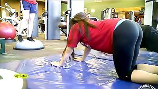 Sporty ass brunette works out in the gym--_short_preview.mp4