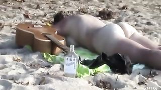 Drunk girl sunbathes completely naked--_short_preview.mp4