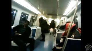 Black bag woman takes a piss on the subway--_short_preview.mp4