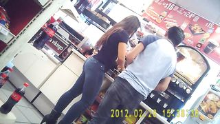 Tight jeans make for a fine Brazilian booty at the store--_short_preview.mp4