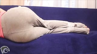 Tape bound girl ends up wetting her in sweatpants--_short_preview.mp4