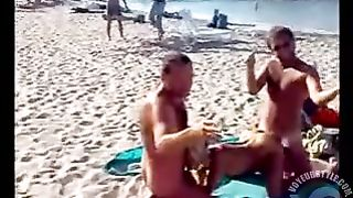 Public MMF threesome on a beach--_short_preview.mp4