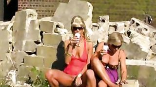 Blondes piss on slave men in kinky outdoor scene--_short_preview.mp4