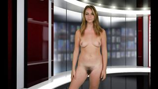 Adorable TV presenter tells the latest news during the the Naked News broadcast--_short_preview.mp4