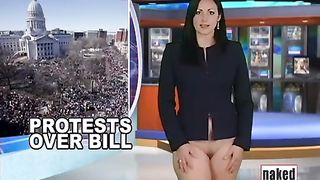 Crazy presenter takes off her clothes at the Naked News posing naked on cam--_short_preview.mp4