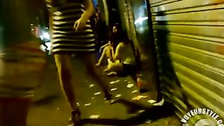 Drunk bimbos walk around the town in rather revealing clothes--_short_preview.mp4