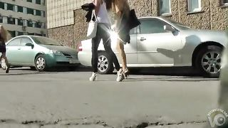College girls in tight skirts and heels in public--_short_preview.mp4