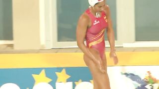 Fit water polo girls in pink swimsuits--_short_preview.mp4